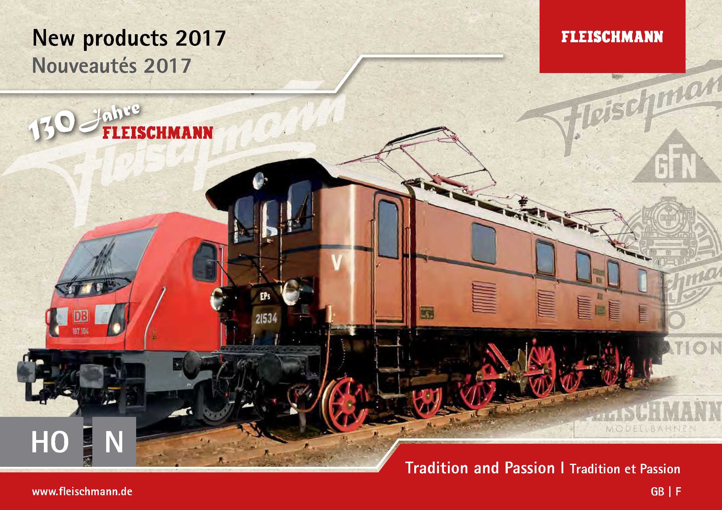 Fleischmann News 2017 for HO scale