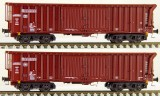 Set of 2 Sliding roof freight cars type Tamns889