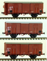 Set of 3 Box cars type Ghms