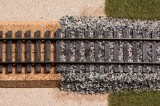 Granite track ballast grey