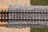 Granite track ballast grey N
