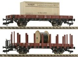 Set of 2 flat cars type R02 with load