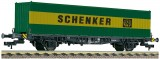 Container carrier car type Lgjs 598 with container Schenker