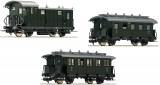 Set of 3 passenger cars for branch line train (Set 2)