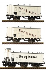 Set of 3 refrigerated cars Seefische