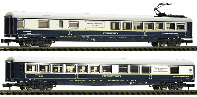 Set of 2 saloon cars of Prestige Continental Express<br /><a href='images/pictures/Fleischmann/Fleischmann-816203.jpg' target='_blank'>Full size image</a>