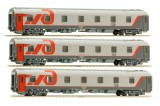 Set of 3 Slipping cars  of Berlin-Moscow train (Set 2)