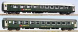 Set of 2 passenger cars 1st/2nd and 2nd class