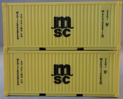 Set of 2 20' Containers &quot;MSC&quot;<br /><a href='images/pictures/PSK_Modelbouw/6924.jpg' target='_blank'>Full size image</a>
