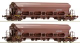 Set of 2 Hopper car with swing roof