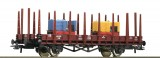 Flat car loaded with 2 Narrow gauge locomotives